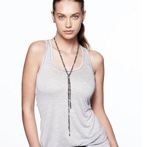 Zoe Lariat Necklace - Hematite
